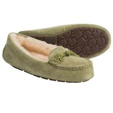 New NIB Ugg Suki Moccasin Slippers Suede Shearling Grass Green RARE DISCONTINUED