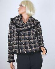 Karierte taillenlange Damenjacken & -mäntel aus Wolle