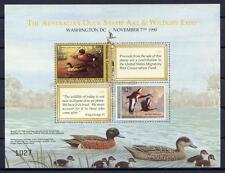 40284) Australia - USA 1990 Joint Issue Australia / USA S/S - Ducks Birds