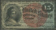 Fr1271 15¢ 4Th Issue Fractional Currency Smaller 38mm Red Seal Unc Br9531