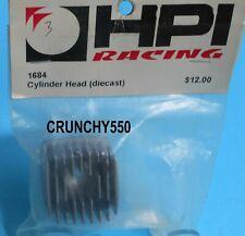 HPI Racing 1684 Cylinder Head Diecast Vintage RC Part