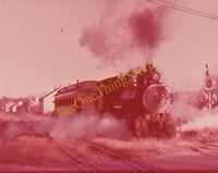 W&OV Train Engine Locomotive 35mm Slide Vtg Souvenir North Freedom Depot C&NW