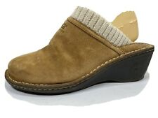 Ugg Gael Leather Comfort Wedge Clogs Womens 9
