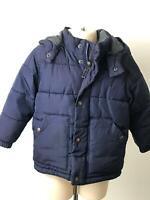 BOYS BABY GAP NAVY HOODED WARM WINTER COAT JACKET KIDS AGE UK 2 YEARS