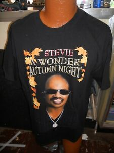 STEVIE WONDER A Wonder Summer's Night  2007 TOUR Concert T-Shirt size L