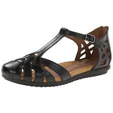 Cobb Hill Womens Ireland Black T-Strap Sandals Shoes 7 Medium (B,M) BHFO 5153