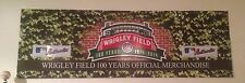 """Wrigley Field """" Game Used """" 100 Year Large Merchandise Sign Rizzo Bryant CUBS"""