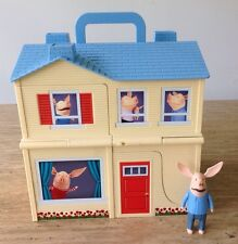 OLIVIA PIG TRANSFORMING DOLL HOUSE & PIRATE SHIP TOY FIGURE SET 2010