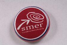 "Slovakia Socialist Party SMER Direction Social Democracy 1"" Made in USA Badge"