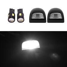 2X FREE LAMPS+Pair License Plate Light Lens for Silverado Sierra Pickup Escalade