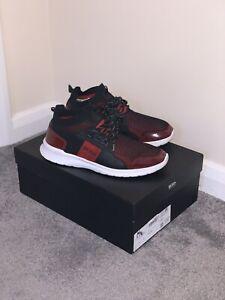 Stalm Gr HUGO BOSS Business-Schuhe Dark Red Mod Made in Italy 43 // UK 9