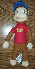 Curious George Monkey Red Shirt Baseball Cap Kellytoy Stuffed Animal Plush Toy