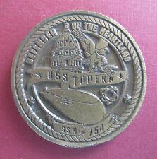 USS Topeka SSN 754 Challenge Coin US Navy Submarine Crew Award