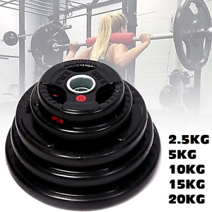 2.5KG - 20KG Gym Home Weight Plates Barbell Dumbbell Fitness Weightlifting