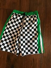CWD Kids Black/Green/White Checkered Swimsuit in Boys Size 10/12