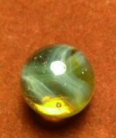 "Champion Agate UV Cosmic RAINBOW Ghost SWIRL  .62"" Old Toys Vintage Marbles"