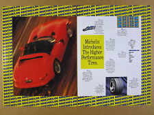 1993 Dodge Viper red car photo Michelin XGT Z Tires vintage print Ad