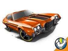 Hot Wheels Cars - '72 Ford Gran Torino Sport Orange