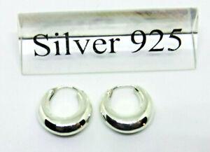 kleine Creolen Ohrhänger 925er Sterling Silber Ohrringe Unisex Neu