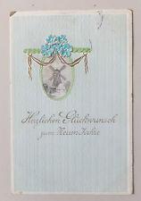 AK  Neujahrskarte geprägt Mühle Windmühle gel. 1912