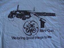Vintage GE General Electric MINI GUN Very rare punk rock T shirt Men's Size 2XL