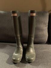 Hunter Original Tall Rain Boots Gloss Green Size 7F