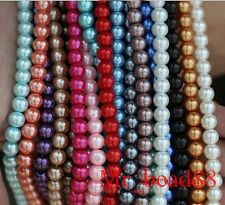 Mixed Colors Loose Round Glass Pearl Spacer Beads 3mm Charms 100pcs