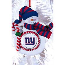 NY NEW YORK GIANTS CHRISTMAS TREE SNOW MAN WITH SCARF ORNAMENT DECORATION