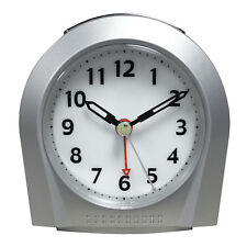 21103 Equity by La Crosse Night Vision Silent Sweep Analog Alarm Clock - Silver