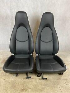 Porsche 987/997 Comfort Black Leather Seats Used Genuine OEM
