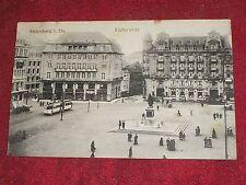 CPA animée STRASBOURG place Kleber avec tramway / Alsace Bas Rhin 67 / A voyagé