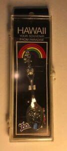 "Collectible Souvenir Spoon Hawaii Fort Hula Dancer 3.5"""