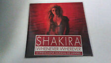 "SHAKIRA ""WHENEVER WHEREVER"" CD SINGLE 2 TRACKS"