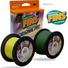 FINS original PRT Braid Superline 50lb x 500yds Fishing Line - YELLOW