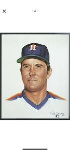 NOLAN RYAN 8 x 10 Living Legends print by Ron Lewis - UNSIGNED
