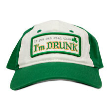 St. Patrick's Day I'm Drunk Snapback Hat Clover leaf shamrock gold luck irish