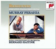 MURRAY PERAHIA - Beethoven: Five Piano Concertos - 3 CD RARE