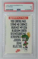 1993 NIKE Marvin the Martian, Michael Jordan Dunk Rejector! Graded PSA 5