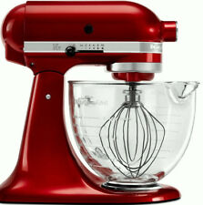KitchenAid Stand Mixer W/Glass Bowl Delux Artisan Tilt Gloss Cinnamon Dark Red