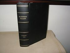 1834 Blackwood's Magazine 2 Bound Volumes. De Quincey, Coleridge, Byron, ETC