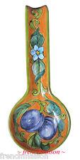 Italian Florence Tuscany Handmade Handpainted Fine Ceramic FRUITS SPOONREST New