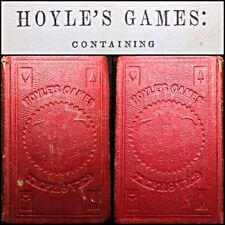 High Grade Wild West Era 1845 Hoyles Games Pocket Book Playing Cards Whist Faro