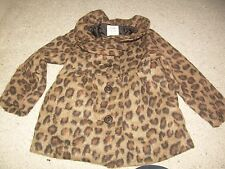 Girls OLD NAVY Wool Blend LEOPARD ANIMAL Print Empire Coat 5T NWT FREE SHIP