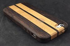 iWooden iPhone SE 5/Ss Wenge/Maple Wood Case Thin Wood  Cover✔️Wood Buttons✔️