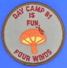 Day Camp Is Fun Four Winds 81 1981 Girl Scout Award Patch