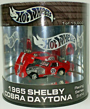 Hot Wheels Oil Can Series 1965 SHELBY COBRA DAYTONA w/RRs (Red)