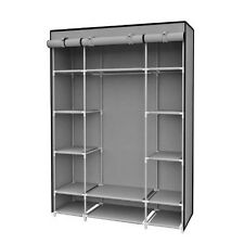 Sunbeam SC01506 Storage Closet With Shelving, Grey NEW