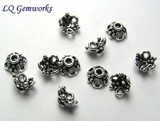 30 Bali Sterling Silver 7x3mm Bead Caps <763>