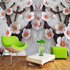 3D Luxury Embossed Flower Wallpaper Mural Roll Modern Bedroom Wall Background