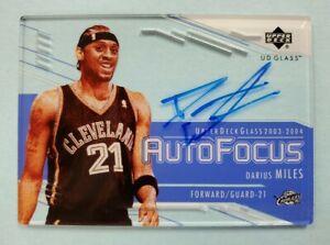 2003/04 UD Glass Darius Miles Auto Focus Autographed Card
